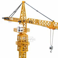 1:50 Diecast Tower Slewing Crane Construction Vehicle Car Models O Scale By KDW #Unbranded #KDW