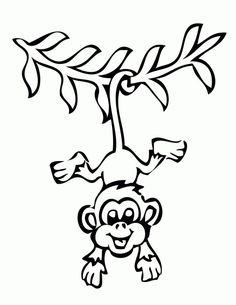 monkey coloring pictures for kids httpfullcoloringcommonkey
