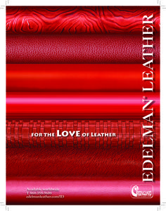 "Edelman Leather ""For the Love of Leather"" ad"
