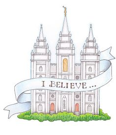 We love this adorable temple design by Susan Fitch! #temples #lds #v4v