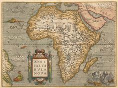 thelandofmaps:  1584 map of Africa by Abraham Ortelius [2,031 x...