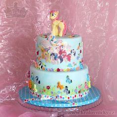 Little Ponies for Little Lady - cake by Eva Kralova Bolo My Little Pony, Cumple My Little Pony, Lady Cake, Cakes For Women, Ponies, Fondant, Birthday Cakes, Amanda, Desserts