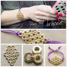 Repurpose these common hardware store staples to create this stylish, diamond bracelet.