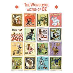 Stamp Sticker Set V.4 - The Wizard of Oz - A Type 01 - OZ4344