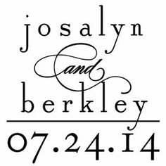 Script Elegance Personalized Wedding Stamper. Really love this website!!