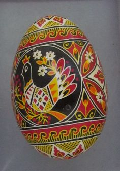 This traditional Easter Egg has a colorful design. It was made with the traditional Ukrainian wax and dye technique. This Easter egg was made by real masters of this craft. It was hand painted on real goose egg shell. | eBay!