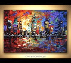 original painting abstract painting landscape by jolinaanthony, $269.00