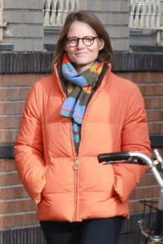Jodie Foster lors d'une balade avec Alexandra Hedison à New York le 19 janvier 2014