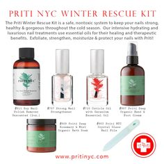 PRITI NYC, a natural and organic creams and scrubs, cruelty free nail polish and soy nail polish remover cosmetic company based in the New York City. Nail Polish Kits, Cosmetic Companies, Nail Treatment, You Nailed It, Moisturizer, Essential Oils, Alcohol, Healing