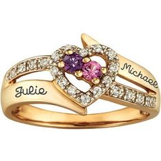 c888d1ed53c3 Personalized Keepsake Enchantment Promise Ring with Birthstones