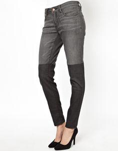 BCBGeneration Skinny Jeans with Overknee Detail