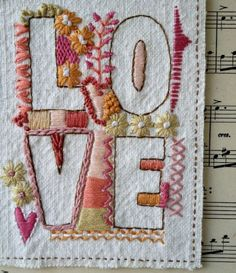Love from broderiemyworld. A Stitch In Time