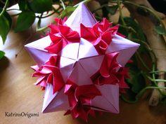 Origami Bonsai Kusudama _ Design von Valentina Minayeva