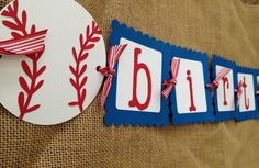 Baseball Birthday Banner Baseball Party Boys by AWhimsyPartyShop, $29.00