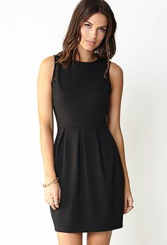 Lace-Trimmed A-Line Dress | FOREVER21 - 2000090509