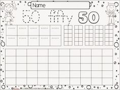 The Fiftieth Day Fun and Freebies-A free Math sheet to use on the Day of School! Kindergarten Themes, Kindergarten Activities, Teaching Math, 100 Days Of School, School Fun, School Ideas, Calendar Activities, Math Sheets, School Calendar