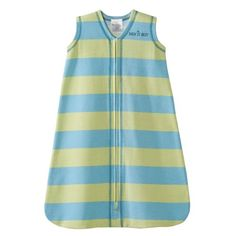Details at http://youzones.com/halo-sleepsack-100-cotton-wearable-blanket-green-and-blue-stripe-small/