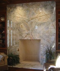 Granite Fireplace in