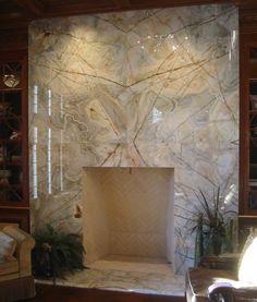 Granite Fireplace in