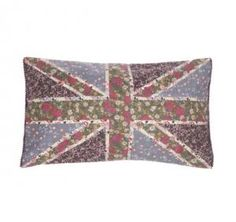 Girly Union Jack Cushion and Cover     These girly Union Jack cushions are uniquely designed  to brighten up any room.   My Size (Approx): 30cm x 50cm   RRP: 10.00