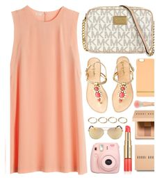 """Peachy"" by monmondefou ❤ liked on Polyvore featuring Lilly Pulitzer, Forever 21, Bobbi Brown Cosmetics, Richmond & Finch, Estée Lauder, Fujifilm, peach and light"
