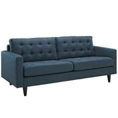 Fabric Upholstery Sofa with Solid Wood legs
