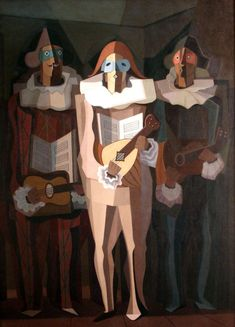 The Improviser By Emilio Pettoruti (Argentinian), oil on canvas, genre: Cubism, 1937 Georges Braque, Harlem Renaissance, Henri Matisse, Pablo Picasso, Geometric Artists, Mime, Modern Art, Contemporary Art, Cubist Art