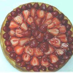 Tarta de Queso con Cubierta de Fresas y Cerezas Acai Bowl, Pie, Breakfast, Desserts, Food, Cherries, Cheesecake, Cream Cheeses, Deserts