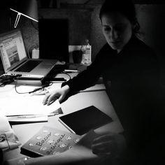 Giulia Sagramola dans son atelier de la Maison des Auteurs, Angoulême