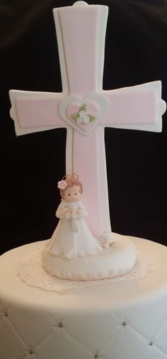 Baptism or First Communion Cross Cake topper These Beautifully Cross Will make Your child's first Communion or Baptism memorable is a great Cake topper or centerpiece decoration. These Crosses have be