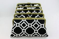 Black and White Wedding Clutches / Wedding Gift for by FAbridal
