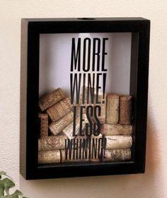 *NEW* More Wine! Cork Holder Shadow Box - Home / Bar Decor Great Christmas Gift