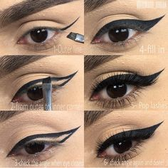 Best and my favorite eyeliner in black tutorial pictorial step by step for dramatic look. Everyday makeup routine for wing gel liner ~ by edward_urban