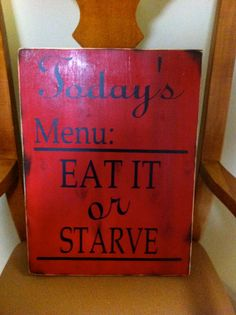 Today's Menu Wall Hanging by Kreationsbykellyr on Etsy, $30.00
