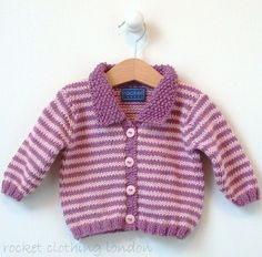 47500f47c Baby Cardigan Mini Stripe by Linda Whaley - Digital Version