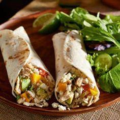 Feta, Chicken & Mango Tacos
