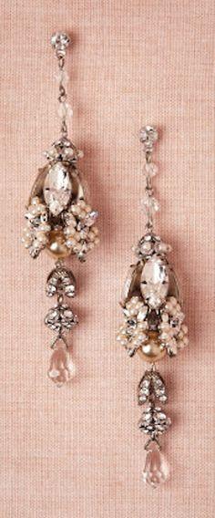 Biltmore earrings, crystals & pearls