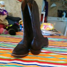 Beautiful brown cowboy boots These have been worn only a few times as you can tell by the soles. Beautiful. nocona  Shoes Ankle Boots & Booties