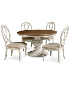 Sag Harbor Round Dining Furniture, 5-Pc. Set (Expandable Round Dining Pedestal Table & 4 Side Chairs)   macys.com