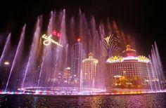 Confira as melhores fontes pelo mundo - Wynn Macau Fountain, Macau, China