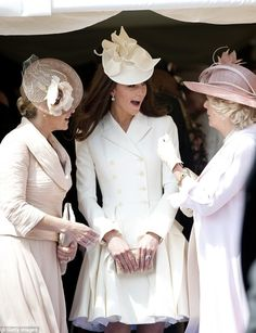 How Kate Became More Regal: Camilla told Kate, pictured together with the Countess of Wessex in 2011, her golden rules to survive royal life, which, according to a source, are: 'Keep smiling, stay attentive even if bored rigid, never be flustered and make sure you do your homework'