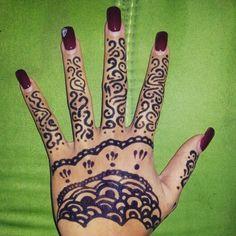 #Henna #hand #simple #beginner