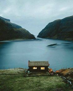 Saksun, Faroe Islands Photo by © Jeff Spackman Ideas De Cabina, Cabin In The Woods, Cabins And Cottages, Faroe Islands, Photos, Pictures, Belle Photo, The Places Youll Go, The Great Outdoors