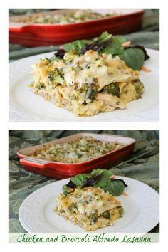 Chicken & Broccoli Alfredo Lasagna | 5DollarDinners.com