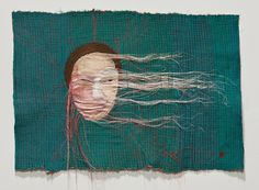 Yoon Ji Seon Rag Face #10, 2012  Sewing on Fabric and Photograph  Approximately 18 1/2″ × 27 7/16″ (47 × 67.3 cm)  Unique