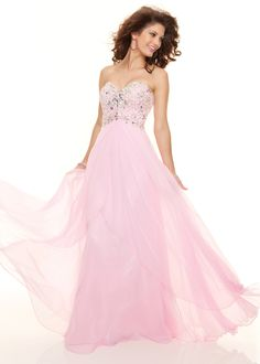 PRETTY PINK Prom Dress with an Open Back Cutout - Pink Evening Gown - Paparazzi by Mori Lee 93003 - thepromdresses.com