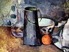 Paul Cezanne: Still life - a jar with an orange
