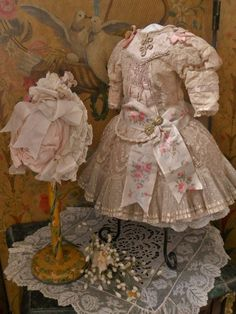 Pretty French Bebe Silk Costume with Bonnet from ~ WHEN DREAMS COME TRUE ~ found @Doll Shops United http://www.dollshopsunited.com/stores/whendreamscometrue/items/1300978/Pretty-French-Bebe-Silk-Costume-Bonnet #dollshopsunited