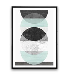 Watercolor abstract, geometric print, Marble print, Minimalist poster, Scandinavian print, Modern wall decor, Turqouise gray, Abstract art Dimensions
