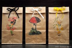 The Gunny Sack: {Tutorial Tuesday} Printed Brown Paper Lunch Bags